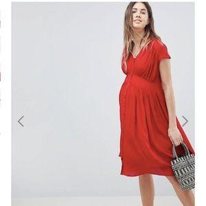 8d1b834204a4 ASOS DESIGN Maternity Casual Midi Tea Dress